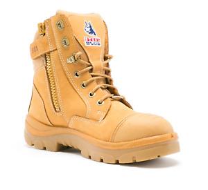 Blue Steel Southern Cross Zip - S2 Wheat Boots - Size 11.5 AU (12.5 US)