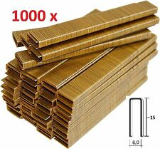 1000 GRAPAS DE 6mm X 15mm PARA GRAPADORA ELECTRICA PARKSIDE PET ENVIO GRATIS