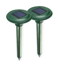 ISOTRONIC Solar Maulwurfschreck Wühlmausschreck Vibrasonic Vibrationsmotor 2er