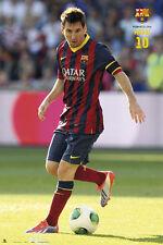 Rare FC Barcelona LIONEL MESSI - SUNSHINE Spanish La Liga Soccer Action POSTER