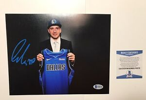 Luka Doncic SIGNED AUTO Autograph 8x10 Photo Mavericks MVP BAS Beckett