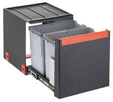 FRANKE Sorter Cube 40 / Automatikauszug Abfalltrennsystem / 2 x 14 l Behälter /