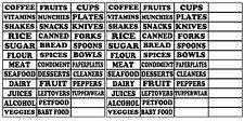 Kitchen Labels Vinyl Decal Sticker For Canister Jars Storage Organize 84PCS