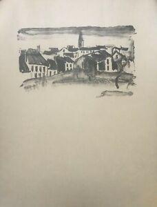 Maurice de Vlaminck Original lithographic print and last pulls 1926 raremuseum