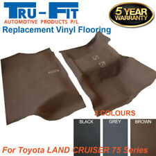 Suits Toyota Land Cruiser 75 Series Moulded Rubber Vinyl Front & Rear Flooring