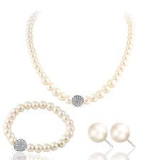 Bridesmaid Jewelry Set Wedding Jewellery, Pearls, Necklace, Bracelet Earrings UK