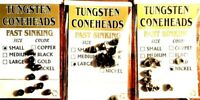 Wapsi Tungsten Coneheads Choice of Quantity, Color & Size (One Package)