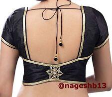 Readymade Saree Blouse, Black Sari Blouse, Crop top, Choli, ready to wear blouse