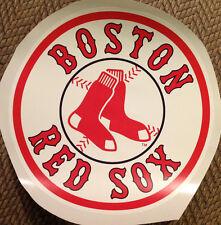 "Boston Red Sox FATHEAD Classic Circle Logo 14"" x 14"" MLB Wall Graphics Vinyl"