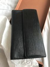 Louis Vuitton Negro Epi Cuero porte Tresor Cartera