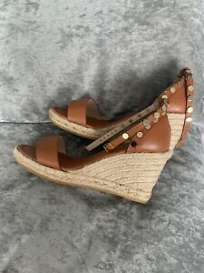 Russell and Bromley tanned wedge shoes