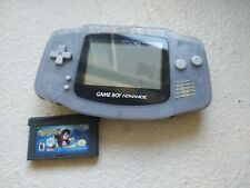 Nintendo GameBoy Advance GBA Glacier Blue w/Harry Potter Game NO BATTERY COVER