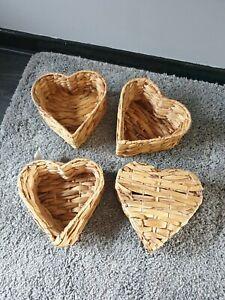 Love heart Wicker basket, storage keepsake, craft, present, gift