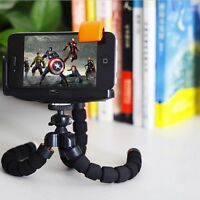 Universal Octopus 360° Rotate Flexible Phone Digital Camera Tripod Stand + Clip