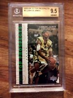 2003-04 Upper Deck Top Prospects LeBron James ROOKIE #60 BGS 9.5 GEM MINT