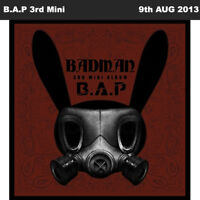 B.A.P BAP BADMAN 3rd Mini Album CD+48p Photo Book+Card+Stencil KPOP