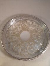 Alpha Plate Vintage Silver Tray Viners of Sheffield Cutlers Company 1836 Chased