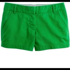 "J. Crew Cotton Chino Broker In Green 3"" Inseam Shorts Sz.4"