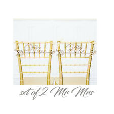 Mr & Mrs Arrow Signs Rustic Wood Wedding Sign  Wedding Party Chair Decoration