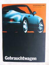 Porsche coches usados - 911 turbo/928 GTS/968-folleto brochure 1986