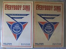 Lot 2 Everybody Sing Song Book Kenneth S Clark 1935 Paull-Pioneer Music Co.