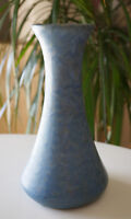 Antique Brush McCoy Vase Early Art Pottery Blue Hues 8""