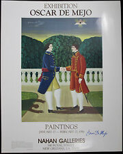 OSCAR De MEJO, Original Poster, Nahan Galleries Exhibition, 1986, Signed