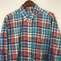 Southern Tide Long Sleeve Button Down Shirt Large L Classic Fit Men's Plaid