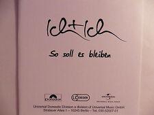 """Ich + Ich Adel Tawil   So soll es bleiben 5"""" Promo Maxi - CD 1 Track 2008 rar!!"""