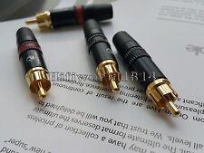 4Pcs Gold Plated RCA Connector Plug Yongsheng Brand of Neutrik Audio Grade