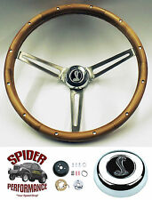 "1965-69 Fairlane Falcon Galaxie 500 steering wheel COBRA 15"" MUSCLE CAR WALNUT"