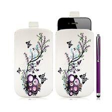 Housse coque étui pochette pour Apple Iphone 4/4S avec motif HF01 + Stylet luxe