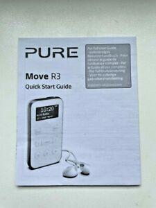 Pure Move R3 Portable Personal DAB Radio Quick Start Guide - UK