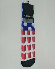 Joe Boxer Mens Novelty Sublimated Skate Socks Beer Pong Red Cup New W/ Tags