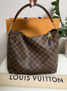 Louis Vuitton Portobello PM Damier Ebene Hobo Bag Speedy Delightful Neverfull