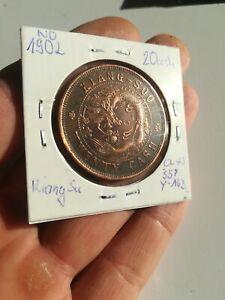 Original China republic Kiang soo 20 cash coin genuine