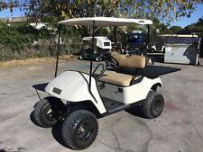 New listing  White 2001 GAS Ezgo txt 2 passenger seat utility golf cart windshield lifted
