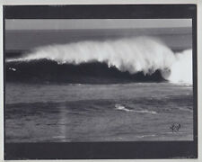 WAIMEA BAY 1969: BIGGEST WINTER EVER 40' WAVE PHOTO HAND PRINTED SILVER HALIDE