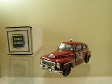 ANDRE MODELS VOLVO PV544  RALLY MONTE CARLO 1962 *340* RED ROSQVIST10/150 1:43