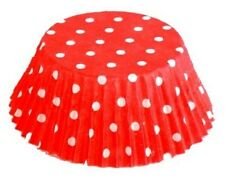 Fox Run Baking Cups Red & White Polka Dots Standard Muffin Cupcake Liners 100 ct