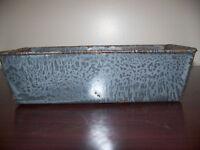 ENAMELWARE GRANITEWARE GRAY MOTTLED LOAF PAN