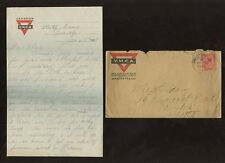 CANADA WW1 ARMY 1918 LETTER CAMP SEAFORD NEW BRUNSWICK SOLDIER YMCA LETTERPAPER