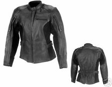 S Ladies Honda Madison Leather Motorcycle Jacket Small
