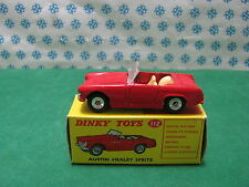 Vintage Dinky Toys 112 AUSTIN HEALEY SPRITE MK II VNM dans Originelle Boîte