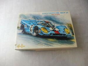 Ancienne maquette voiture, Porsche 917 K, Gulf-Wyer, Heller, 1/24,  L744, neuf