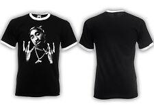 Tupac Ringer Shirt  2Pac Makaveli West Coast Hip Hop Swag Dope Asap RIP