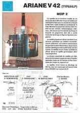Timbre souvenir philatélique Cosmos Ariane V42 MOP 2 lot 15133