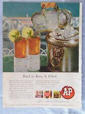 1946 Magazine Ad Page A&P Tea & Johnson's Cream Wax Vintage Advertisement