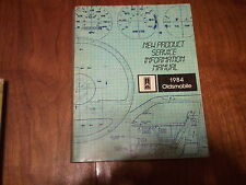 1984 Oldsmobile New Product Service Information Manual