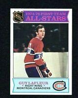 NM 1975 Topps #290 Guy Lafleur All-Star HOF.